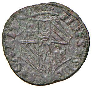 reverse: Urbino. Guidobaldo I di Montefeltro (1482-1508). Quattrino MI gr. 1,70. CNI 20. Ravegnani Morosini 2. Cavicchi 31. Tipo rarissimo con il busto a destra. q.SPL