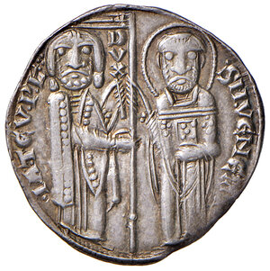 obverse: Venezia. Iacopo Tiepolo (1229-1249). Grosso AG gr. 2,21. Paolucci 1.  Patina di medagliere, SPL
