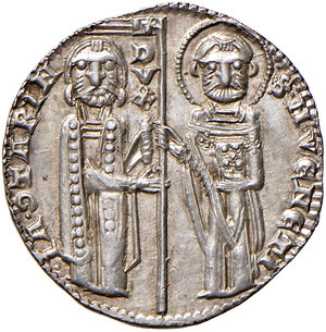 obverse: Venezia. Iacopo Contarini (1275-1280). Grosso AG gr. 2,20. Paolucci 1. q.FDC