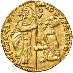 obverse: Venezia. Giovanni Soranzo (1312-1328). Ducato AV gr. 3,56. Paolucci 1.  Conservazione insolita per questo nominativo, SPL