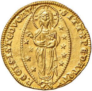 reverse: Venezia. Giovanni Soranzo (1312-1328). Ducato AV gr. 3,56. Paolucci 1.  Conservazione insolita per questo nominativo, SPL