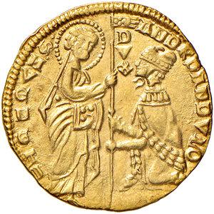 obverse: Venezia. Andrea Dandolo (1343-1354). Ducato AV gr. 3,54. Paolucci 1. SPL