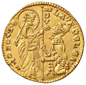 obverse: Venezia. Lorenzo Celsi (1361-1365). Ducato AV gr. 3,56. Paolucci 1. Conservazione eccezionale, q.FDC