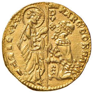 obverse: Venezia. Marco Corner (1365-1368). Ducato AV gr. 3,52. Paolucci 1. Fondi lucenti e migliore di SPL