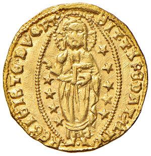 reverse: Venezia. Francesco Foscari (1423-1457). Ducato AV gr. 3,55. Paolucci 1. Esemplare ben coniato e di largo modulo, SPL