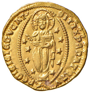reverse: Venezia. Cristoforo Moro (1462-1471). Ducato AV gr. 3,52. Paolucci 1. Raro. Leggermente mosso di conio al dr., altrimenti q.SPL/SPL