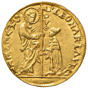obverse: Venezia. Leonardo Loredan (1501-1521). Ducato AV gr. 3,48. Paolucci 1. Raro. Esemplare di bello stile, SPL