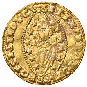 reverse: Venezia. Francesco Donà (1545-1553). Zecchino AV gr. 3,47. Paolucci 1. Infrazione del tondello, altrimenti buon BB