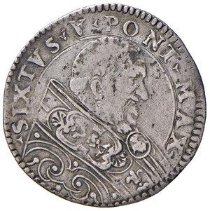 obverse: Bologna. Sisto V (1585-1590). Bianco AG gr. 4,34. Muntoni 98 var. I. Berman 1362. Chimienti 391. MIR 1356/1. Molto raro. q.BB