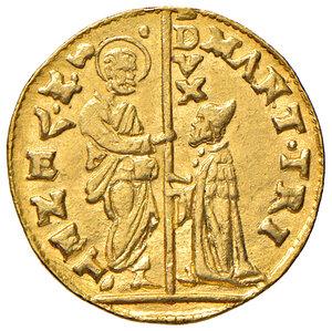 obverse: Venezia. Marc'Antonio Trevisan (1553-1554). Zecchino AV gr. 3,49. Paolucci 1.  Raro. q.SPL