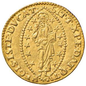 reverse: Venezia. Marc'Antonio Trevisan (1553-1554). Zecchino AV gr. 3,49. Paolucci 1.  Raro. q.SPL