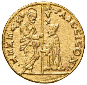 obverse: Venezia. Pasquale Cicogna (1585-1595). Zecchino AV gr. 3,49. Paolucci 1. Esemplare perfettamente coniato e di conservazione eccezionale, q.FDC