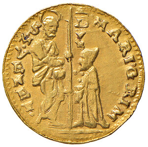 obverse: Venezia. Marino Grimani (1595-1605). Zecchino AV gr. 3,50. Paolucci 1. q.SPL