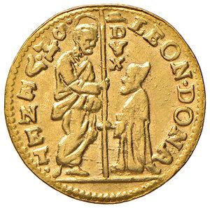 obverse: Venezia. Leonardo Donà (1606-1612). Zecchino AV gr. 3,48. Paolucci 1. Raro. q.SPL