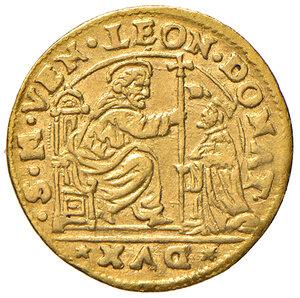 obverse: Venezia. Leonardo Donà (1606-1612). Ducato AV gr. 2,09. Paolucci 5. Raro. q.SPL