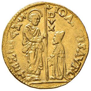 obverse: Venezia. Giovanni Pesaro (1658-1659). Zecchino AV gr. 3,48. Paolucci 1. Molto raro. Debolezza di conio, altrimenti SPL