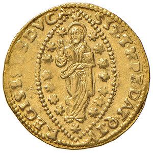 reverse: Venezia. Giovanni Pesaro (1658-1659). Zecchino AV gr. 3,48. Paolucci 1. Molto raro. Debolezza di conio, altrimenti SPL
