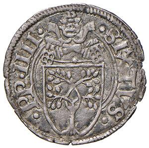 obverse: Ancona. Sisto IV (1471-1484). Bolognino papale AG gr. 0,80. Muntoni 40. Berman 466. Dubbini-Mancinelli pag. 73. MIR 476. Molto raro. Patina di medagliere, SPL