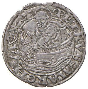 reverse: Ancona. Sisto IV (1471-1484). Bolognino papale AG gr. 0,80. Muntoni 40. Berman 466. Dubbini-Mancinelli pag. 73. MIR 476. Molto raro. Patina di medagliere, SPL