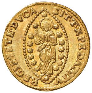 reverse: Venezia. Silvestro Valier (1694-1700). Zecchino AV gr. 3,49. Paolucci 5. Raro. SPL
