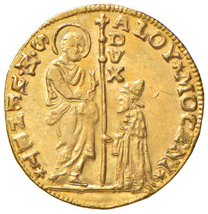 obverse: Venezia. Alvise II Mocenigo (1700-1709). Zecchino AV gr. 3,50. Paolucci 2.  q.SPL