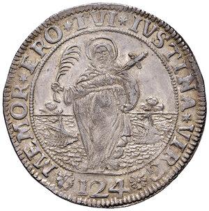 reverse: Venezia. Alvise Pisani (1735-1741). Ducatone da 124 soldi (sigla Z-F; Zorzi Foscolo massaro) AG gr. 27,53. Paolucci 14. Molto raro e in stato di conservazione eccezionale, q.FDC