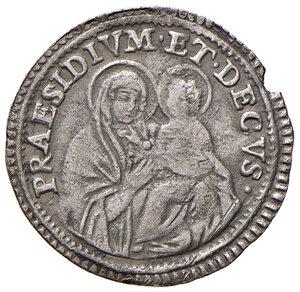 reverse: Bologna. Clemente XI (1700-1721). Carlino 1718 AG gr. 1,60. Muntoni 184a. Berman 2457. Chimienti 661. Molto raro. Buon BB