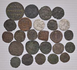 reverse: Epoca medioevale e moderna. Lotto di venticinque monete in mistura e rame di diverse zecche italiane. Presenti alcune rarità.  Da MB a buon BB