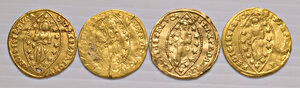 reverse: Venezia. Lotto di quattro monete. Paolo Renier (1779-1789), zecchino. Ludovico Manin (1789-1797), zecchino (3). Da MB a BB