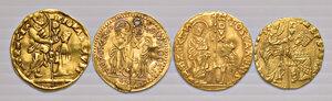 obverse: Venezia. Lotto di quattro monete. Imitazioni orientali dello zecchino. Mediamente BB