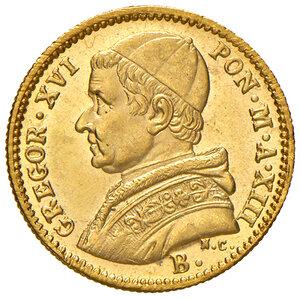 obverse: Bologna. Gregorio XVI (1831-1846). Da 2,50 scudi 1843 anno XIII AV. Pagani 148. Chimienti 1290. Rara. q.FDC