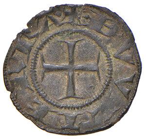 reverse: Casole. Ranuccio Allegretti vescovo di Volterra (1321-1348). Denaro o picciolo MI gr. 0,47. CNI 6 (Berignone). MIR 32/2. Molto raro. Conservazione eccezionale, bello SPL