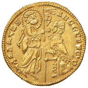obverse: Chio. Anonime del sec. XIV. Imitazione del ducato veneto a nome di Andrea Dandolo (1343-1354) AV gr. 3,55. Pur essendo un'imitazione del ducato, questa moneta risulta il prodotto di un conio finemente eseguito, ne andrebbe approfondita la sua esatta attribuzione. Raro. SPL