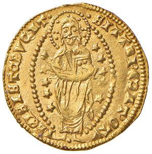 reverse: Chio. Anonime del sec. XIV. Imitazione del ducato veneto a nome di Andrea Dandolo (1343-1354) AV gr. 3,55. Pur essendo un'imitazione del ducato, questa moneta risulta il prodotto di un conio finemente eseguito, ne andrebbe approfondita la sua esatta attribuzione. Raro. SPL