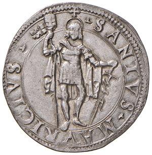 reverse: Desana. Pietro Berard de la Foucadiére (1516-1529). Testone AG gr. 8,97. CNI 1/3. MIR 454. Rarissimo. q.SPL/SPL