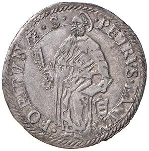 reverse: Giulio AG gr. 3,07. Muntoni 394. Berman 1267. Ciavaglia 31. MIR 1266/5. Di questa moneta il CNI segnala un solo esemplare in C3 al Museo Vaticano. Molto raro. SPL 300