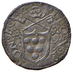 obverse: Ancona. Leone X (1513-1521). Quattrino MI gr. 0,55. Muntoni 89. Berman 681. Dubbini-Mancinelli pag. 111 (1° tipo). MIR 646. Rarissimo. Buon BB
