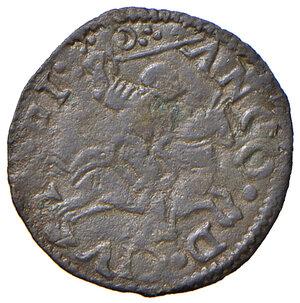 reverse: Ancona. Leone X (1513-1521). Quattrino MI gr. 0,55. Muntoni 89. Berman 681. Dubbini-Mancinelli pag. 111 (1° tipo). MIR 646. Rarissimo. Buon BB