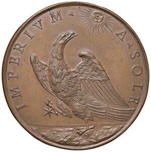 reverse: Fermo. Decio Azzolino cardinale (1623-1689). Medaglia (1680) AE gr. 84,70 diam. 60,5. Opus Massimiliano Soldani. Vannel-Toderi 32. Coniazione originale. Molto rara. Più di SPL