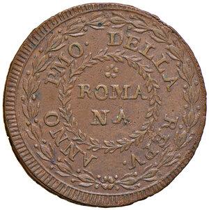 obverse: Fermo. Repubblica romana (1798-1799). Baiocco anno I CU gr. 11,30. Pagani 53. Muntoni 51. Bruni 33.  SPL