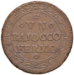 reverse: Fermo. Repubblica romana (1798-1799). Baiocco anno I CU gr. 11,30. Pagani 53. Muntoni 51. Bruni 33.  SPL