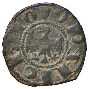 obverse: Ferrara. Obizzo III d'Este (1344-1352). Denaro MI gr. 0,44. CNI 3 (M. Correr). MIR 217. Raro. Buon BB