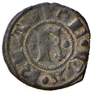 reverse: Ferrara. Obizzo III d'Este (1344-1352). Denaro MI gr. 0,44. CNI 3 (M. Correr). MIR 217. Raro. Buon BB