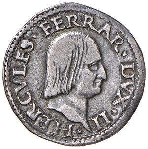 obverse: Ferrara. Ercole I d'Este (1471-1505). Quarto o idra AG gr. 7,64. Ravegnani Morosini 4 (testone). MIR 255. Raro. Impercettibile traccia di appiccagnolo, altrimenti BB/Buon BB