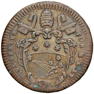 obverse: Gubbio. Pio VI (1775-1799). Baiocco anno XV CU gr. 22,43. Muntoni 355. Berman 3110. Buon BB/q.SPL