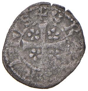 obverse: Merano. Federico IV conte (1406-1439). Quattrino MI gr. 0,59. CNTM cfr. 552b, ma tre punti sull'ala araldica sia d. che s. Molto raro. BB