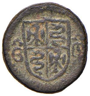obverse: Milano. Galeazzo Maria Sforza (1466-1476). Peso monetale del ducato AE gr. 3,23. Borzone –. Raro. Buon BB