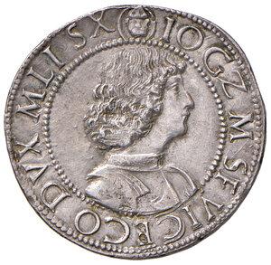 """obverse: Milano. Gian Galeazzo Maria Sforza (1476-1494). Reggenza di Ludovico """"il Moro"""" (1484-1494). Testone AG gr. 9,64. Ravegnani Morosini 3. Crippa 3. MIR 221. Raro. Bel metallo lucente, SPL"""