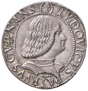 """reverse: Milano. Gian Galeazzo Maria Sforza (1476-1494). Reggenza di Ludovico """"il Moro"""" (1484-1494). Testone AG gr. 9,64. Ravegnani Morosini 3. Crippa 3. MIR 221. Raro. Bel metallo lucente, SPL"""