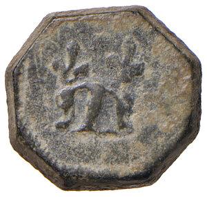 obverse: Milano. Epoca di Luigi XII re di Francia (1500-1513). Peso monetale del grosso regale da 6 soldi AE gr. 3,70. Borzone –. Buon BB